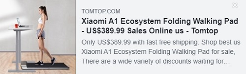 Xiaomi A1 Ecosystem Folding Walking Pad   Price: $389.99   Delivered from USA Warehouse,Free Shipping