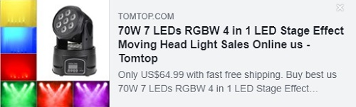 70W 7 LEDs RGBW 4 in 1 LED Stage Effect Moving Head Light Price: $44.99 Delivered from USA Warehouse,Free Shipping